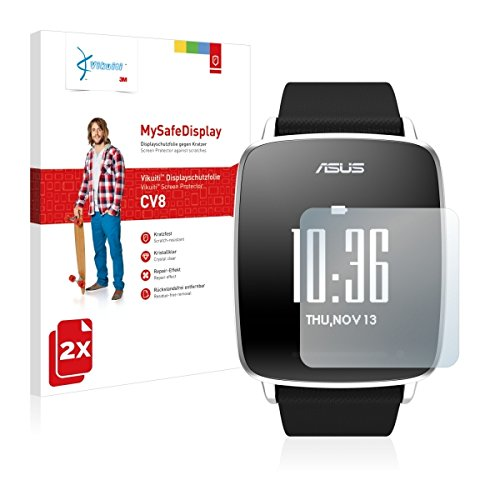 2x Vikuiti MySafeBildschirm CV8 Bildschirmschutz Schutzfolie für Asus Vivowatch (Ultraklar, strak haftend, versiegelt Kratzer)