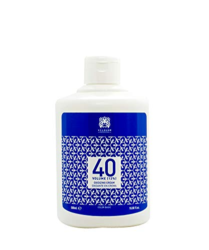 Valquer Profesional Oxigenada Estabilizada en Crema, 40 Volumenes (12%). Coloración capilar permanente. Uso profesional peluquería. Formulación vegana - 500 Ml