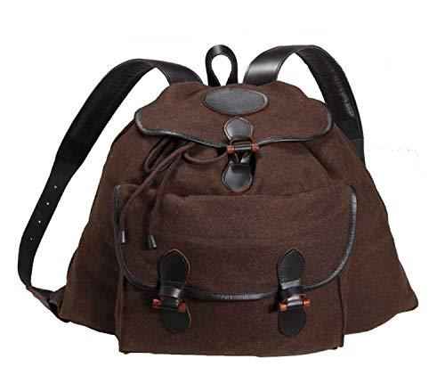 Parforce Lodenrucksack braun mit Holzknebelverschluss und Schweißeinlage, Farbe:Dunkelbraun