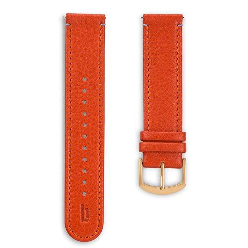 Lilienthal Berlin - Made in Germany - Wechselarmband, vegetabil gegerbtes Leder L1 (Farbe: flame / S