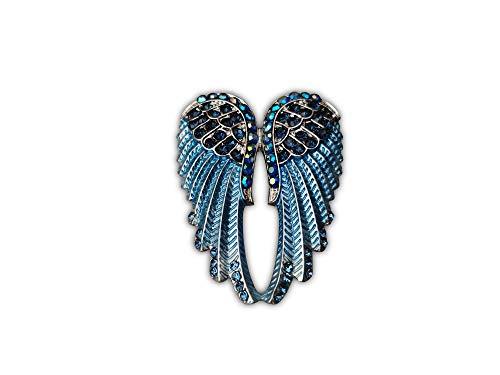 Eillwin Angel Blue-Teal Wings Lovely Vintage Brooch Pin