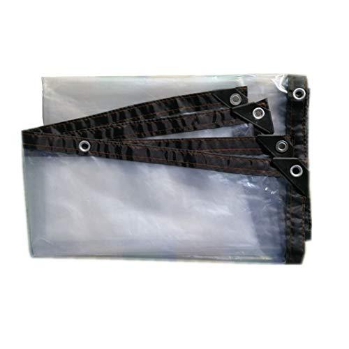 JHNEA Lona de protección Transparente, 5 Mil con Ojetes Lonas Impermeable Polietileno con Lona de Lona Prueba de Lluvia,Clear_2x4m