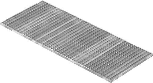 Fenau | Gitterrost/Baunorm-Rost Maße: 490 x 1190 x 20 mm - MW: 30 mm / 10 mm (Vollbad-Feuerverzinkt) (Passend für Zarge: Fenau 500 x 1200 x 23 mm) Industrie-Norm-Rost für Lichtschacht