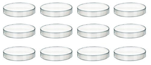 100 x 11mm Plastic Petri Dish - Polypropylene - Pack of 12