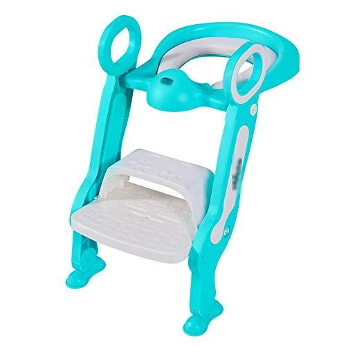 Jiamuxiangsi- Kinderleiter Wc Baby Wc Ladder Männer und Frauen Babysitz Waschmaschine Kind WC Rack Treppe Leiter Schritt Töpfchen WC-Sitz (Farbe : Grün)
