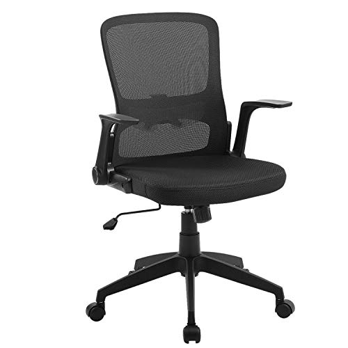 Office Chair Ergonomic Desk Chair Mid Back Swivel Mesh Computer Chair Adjustable Stool Rolling Home