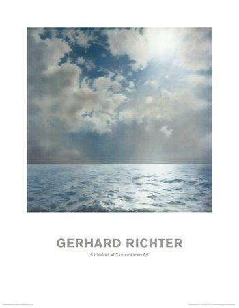 Gerhard Richter Seestück Poster Kunstdruck - 90 x 70 cm