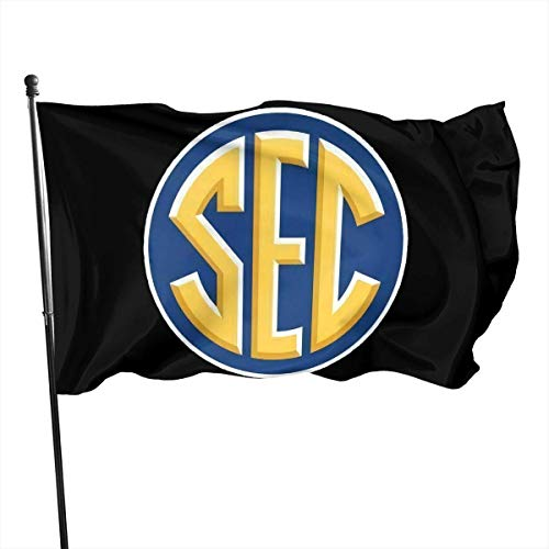 AOOEDM Southeastern Conference Sec Classic Flag Vivid Color and Uv Fade Resistant with Brass Grommets 3x5'' Flag