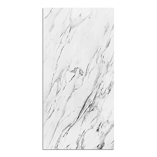 Alfombra Vinílica Mármol para Cocina, 80 x 40 cm, Color Blanco, ALV-123