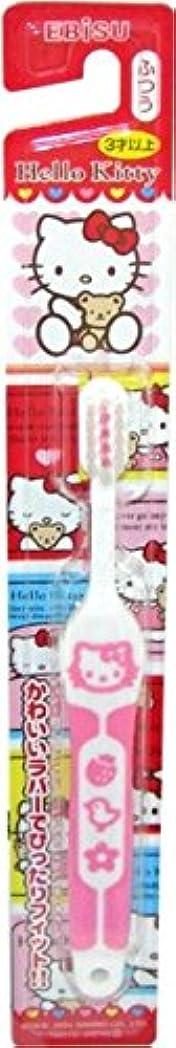 冷蔵庫交差点ジャンクエビス ハローキティ ラバーハブラシ 3才以上 子供用歯ブラシ 毛のかたさ:ふつう×360点セット (4901221074107)