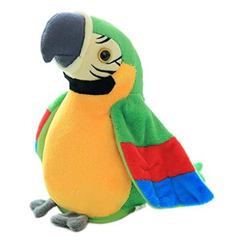Chenggong Peluche eléctrico de papagayo, el habla, pájaro de simulación educativa