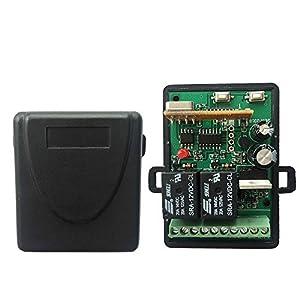 Receptor-Universal-para-Puerta-de-Garaje-Portn-Automtica-Radio-Receptor-43392-MHz-en-Autoaprendizaje-2-Canales-Cdigo-Fijo-Y-Rolling-Code-12-24V-AC-DC