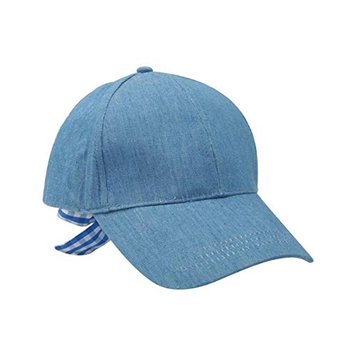 Casquette de Baseball Plaine Baseball Cap Lady Blue Hat Classic Style Hat Casual Sports Outdoor Butterfly Lace Adjustable Cap Fashion Lady