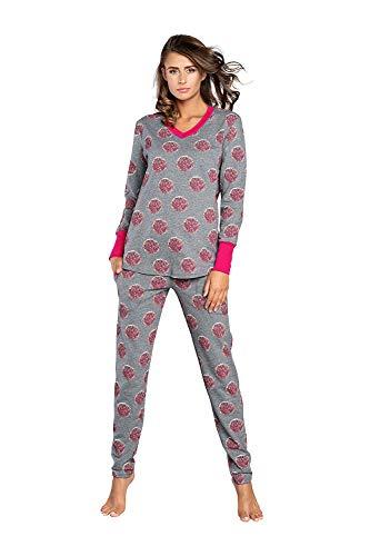 Italian Fashion IF Pigiama da Donna in Cotone. Maglietta e Pantaloni Comodi per Dormire. Biancheria Intima a...