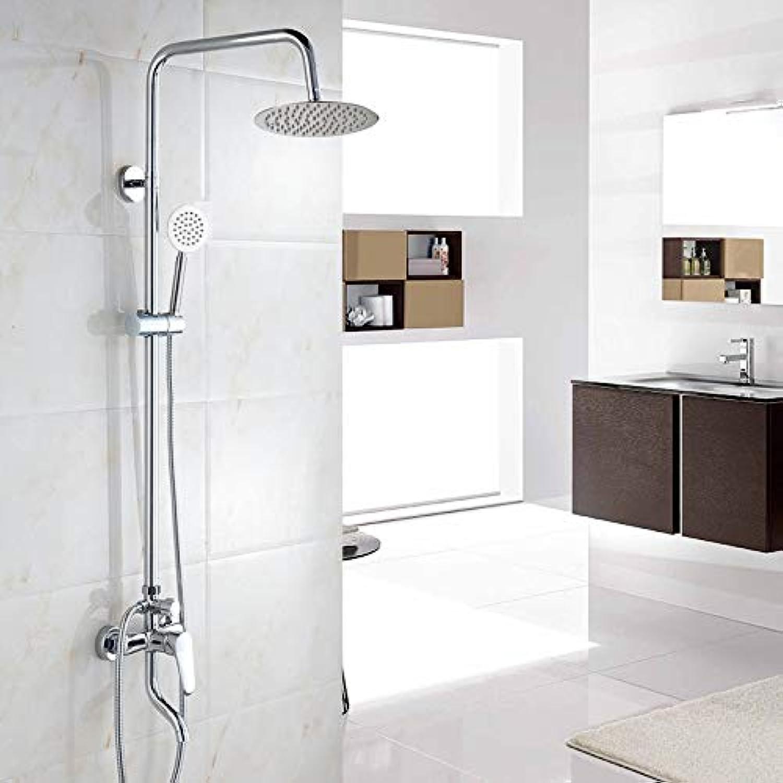 Luxus Moderne Regendusche Set Wasserhahn Messing Material Chrom Poliert Mischbatterie Wandmontage