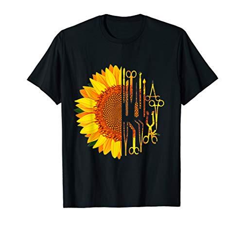 Surgical Scrub Tech Surgeon Sunflower Surgery Intern OR T-Shirt