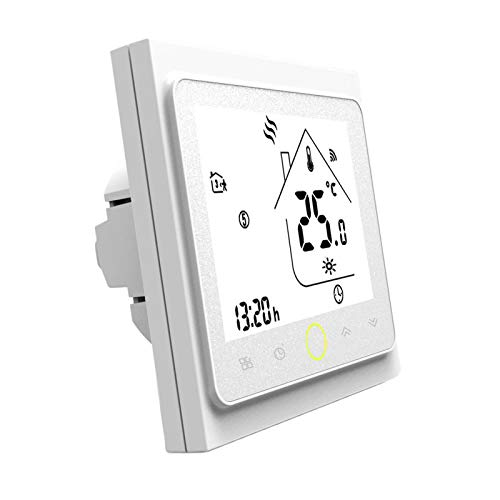MagiDeal Termostato inteligente WiFi Control de temperatura aplicación Control remoto para la calefacción de la caldera de Gas de agua, funciona con Alexa