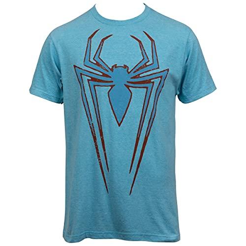 Noveltee Camiseta com o símbolo do Homem-Aranha, Azul, M