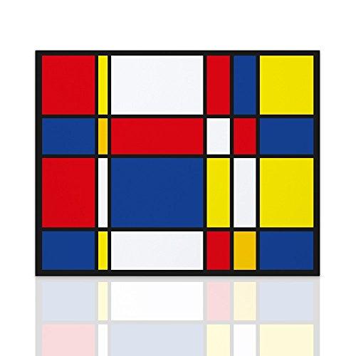 Marco para el homenaje de dormitorio Piet Mondrian. Cuadro listo para colgar con estructura de madera hecha a mano Arte moderno Decoración del hogar Diseño - Declea