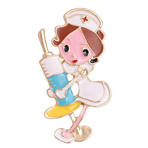 S-TROUBLE Esmalte Creativo Enfermera Ambulancia Corazón Broche Aleación de Metal Pin de Solapa Hebilla Aguja Joyería Regalo Ropa Accesorios Emblema Badages