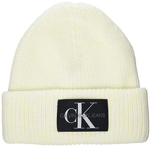 Calvin Klein Damen Beanie WL Hut, Bright White, Einheitsgröße