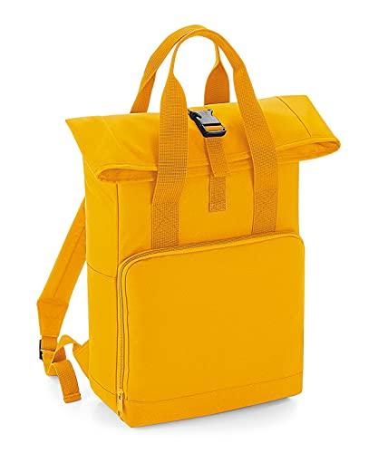 BagBase Twin Handle Rolltop Backpack - Black