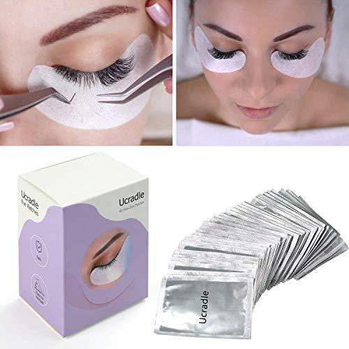 Ucradle Eye Gel Pads, 60 Pares de Pestañas Lash Extension Pads Under Eye Parches para Pestañas, Almohadillas de Extensión para Pestañas sin Pelusa