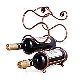 Casier à vin Porte-vin De Table En Métal, Porte-vin Countertop, Autoportante Wine Rack De Stockage Organisateur For Décoration D'intérieur, Bar, Cave À Vin, Sous-sol, Cabinet