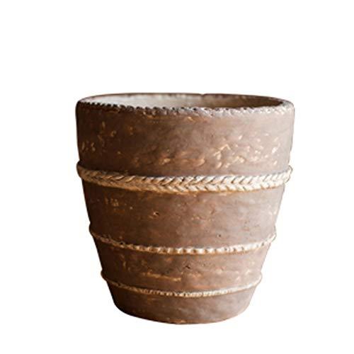 LHY- Flower Pot Terracotta bloempot bloemenvaas Decoratief Ornament Handmade Art Cylinder Prachtig (Size : 18 * 18.5cm)