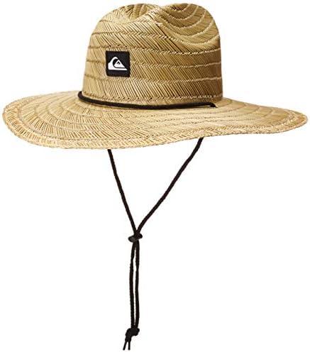 Quiksilver mens Pierside Straw Sun Hat Natural Black Large X Large US product image