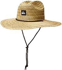 Quiksilver-Mens Pierside Straw Sun Hat, Natural/Black, Large X-Large US