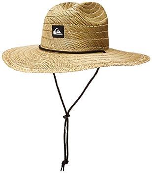 Quiksilver-Mens Pierside Straw Sun Hat Natural/Black Large X-Large US