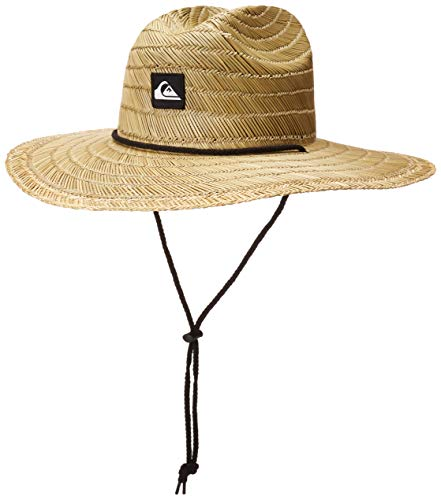 Quiksilver mens Pierside Straw Sun Hat, Natural/Black, Large X-Large US
