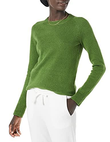 Amazon Essentials Women's Classic-fit Soft-Touch Long-Sleeve Crewneck Sweater, Green, Medium