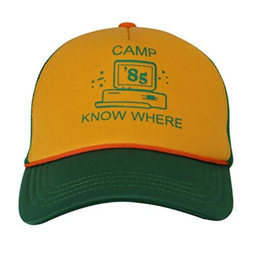 Fanxp Stranger Things Cap Dustin Hat, Retro Mesh Trucker Cap Camp Hat, Sombreros De Béisbol Ajustables para Unisex
