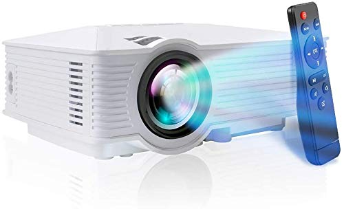 Mini Projector - 1080P and 170 inch Display Portable Movie Projector with 50,000 Hrs LED Lamp Life, Compatible with Fire TV Stick, PS4, HDMI, VGA, TF, AV and USB. Buy it now for 69.99