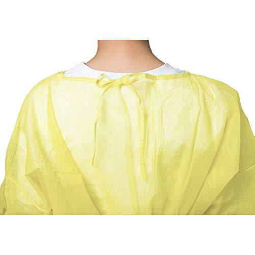 『100枚入り イエロー 使い捨て防の護の服 フリーサイズ 男女兼用』の4枚目の画像