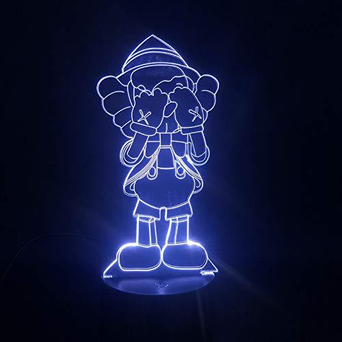Eine kleine Person, die seine Augen bedeckt 3D LED Tischlampe Kinder Geschenk Anime Hübsche Student Nachtlicht USB Nachtlicht