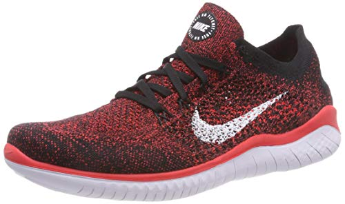 Nike Free RN Flyknit 2018, Chaussures de Running Compétition Homme, Multicolore (Bright Crimson/White/Black 602), 46 EU