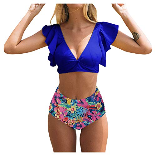 K-Youths Conjunto de Bikini Sexy Mujer Color sólido para Push Up Ropa de Playa Traje de Baño Bañador Talla Grande Ropa de Playa