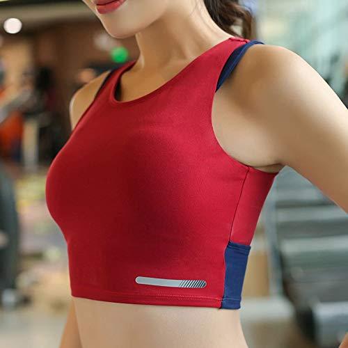 HEZHYDNY Sujetador para Mujer Mujer Camisas de Yoga Chaleco de Correr Push Up Sujetador Deportivo Yoga Gym Tank Top A Prueba de Choques Acolchado Entrenador de Fitness Sujetador de Yoga Sin Costuras