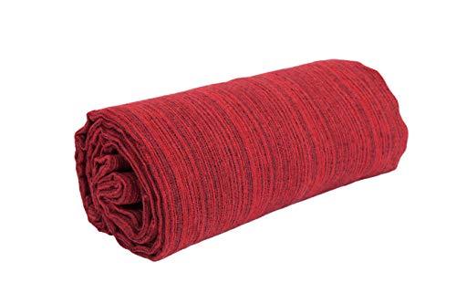 HomeLife – Manta decorativa para sofá Melange – Sábana bajera multiusos de puro algodón – Granfoulard colcha para cama individual/matrimonial/1 plaza y media y Maxi – Fabricado en Italia