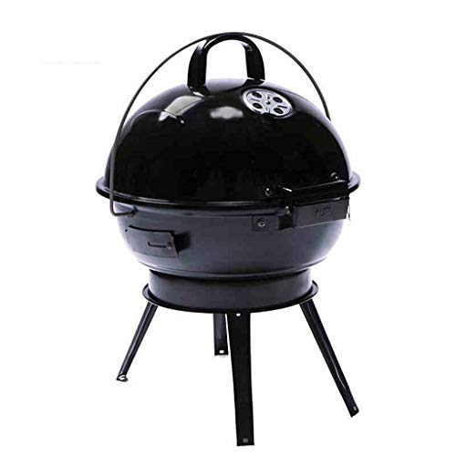 YIN YIN BBQ Grill - American Car Portable Apple Herd Haushalt Holzkohlegrill Emaille Gegrillter Ofen (Color : Red)
