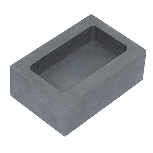 moumoujp 純黒鉛るつぼ角型石墨坩堝鋳造インゴット鋳型るつぼシルバーゴールド溶融金銀銅融解用(55x37x20mm)