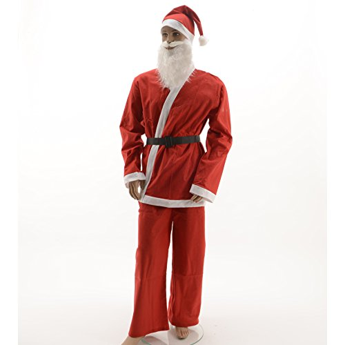 Tuintrampoal Kerstmanpak Sinterklaas kostuum 5-delig