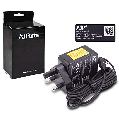 AJP New Replacement For Acer Travelmate X349-G2-M-54Y8, X349-G2-M-55WQ X349-G2-M-57EV Laptop Notebook Adapter 45W Battery Charger Power Supply 3.0MM X 1.0MM Pin Size UK Wall Plug PSU Adaptor
