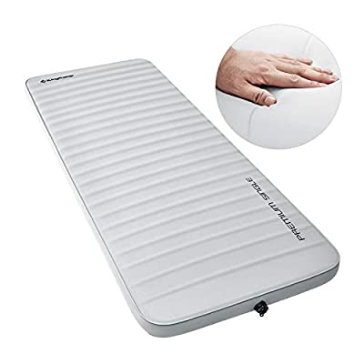 KingCamp 3D 3 Inch Wide Self Inflating Camping Mattress Sleeping Pad, Extra Large XL Foam Air Mattress for Car Camping, Tent, Travel, Insulated, Gray