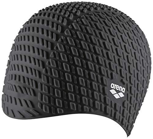 Arena Bonnet Silicone, Cuffia Unisex Adulto, Nero (Black), Taglia Unica