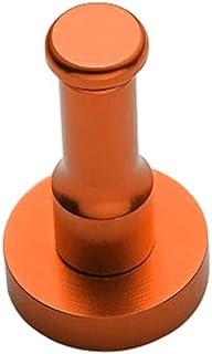 DOITOOL 宇宙アルミドアフック大型上シングルドアハンガー服帽子ラック浴室のための服のコート帽子ベルトタオルオレンジ