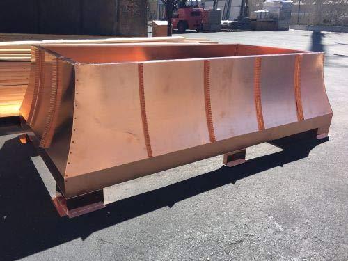 Find Bargain Castilian Sage Copper Chimney Shroud, 34 x 34 x 20-20 oz. Copper